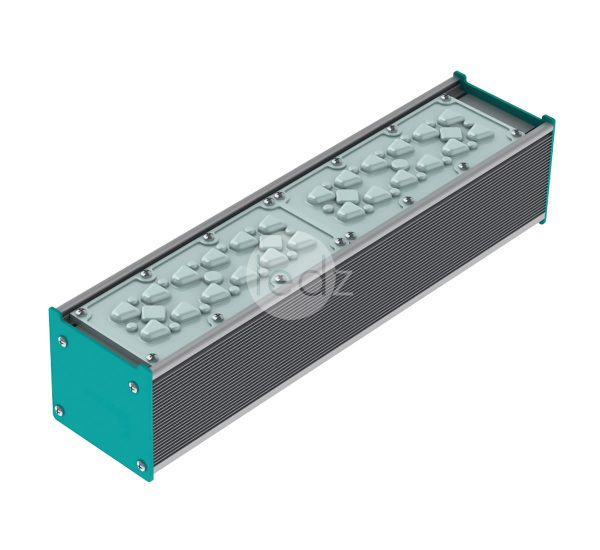 ledz e-Industry 50-350 D0 LED industrial luminaire for workshops, warehouses, fireproof with tempered glass, with emergency power supply and others