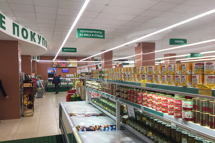 Network Nika Vitebsk completely switched to LED lights, installing commercial lighting ledz