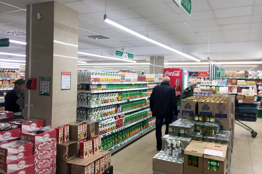 "The network of food stores ""Nika"" in Vitebsk has converted its stores into LED lamps of the Belarusian manufacturer ledz (Minsk), buy commercial lighting"