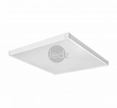 LED office luminaires ledz e-Office 6060-350 hM, can be built into Armstrong, suspended from ropes and mounted directly on the ceiling. There is a version of the panel lamp, in which the glow is completely uniform and no dots are visible. A waterproof IP54 version is also available with a built-in emergency power supply. Made in Belarus