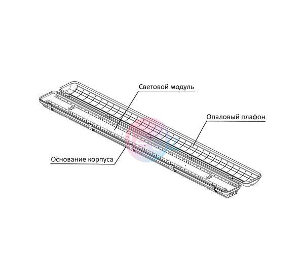 ledz e-Slim 20 aM универсальные светодиодные светильники IP66 купить недорого Минск