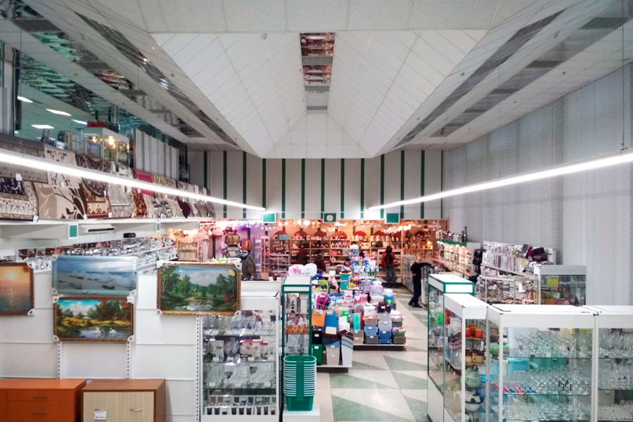 Gaspadar and Gaspadynya switched to Belarusian LED luminaires ledz e-Trade 100 CM