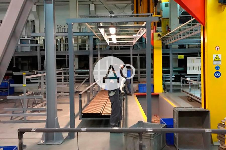 Группа компаний Алютех является партнёром компании Элреди по замене освещения на светодиодное, мы устанавливаем светодиодные светильники марки ledz в их цехах
