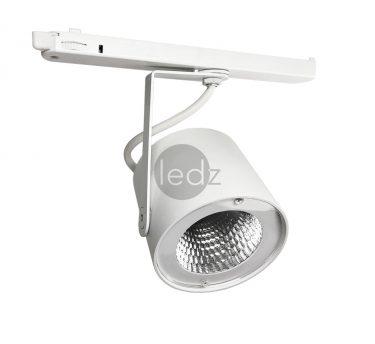 ledz e-Track 900 J0 white трековый светодиодный светильник на шинопровод. Доступны светодиоды с различными спектрами света для мяса, рыбы, фруктов, хлеба, алкоголя и других категорий товаров, а также отражатели на выбор