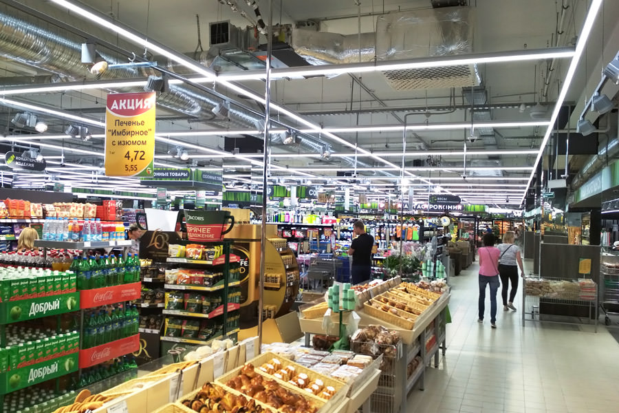 Green network is now covered by modern LED lighting for retail networks from the Belarusian manufacturer ledz