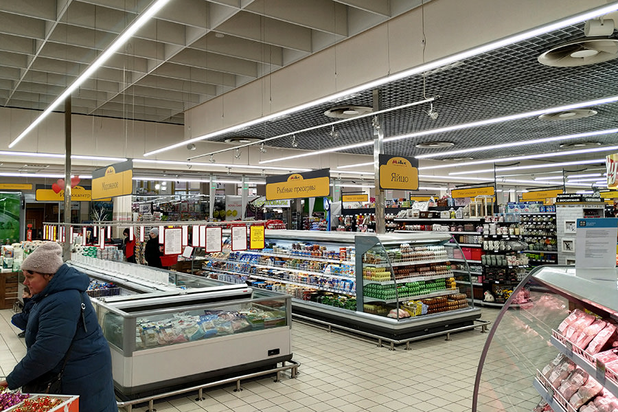 buy ledz e-Trade LED lamps for stores for retail chains, lamps for hypermarkets, light lines to buy
