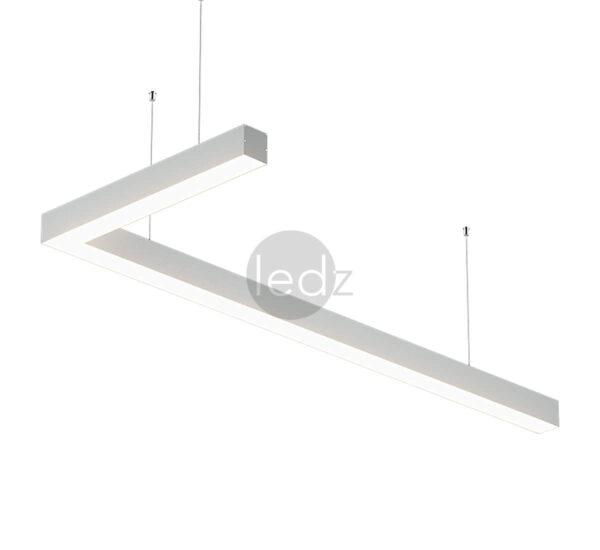 Линейные премиум-светильники ledz e-Admin можно соединять в любые формы и под любым углом без швов. Светильники изготовлены в Беларуси